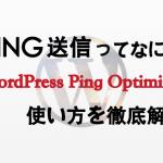 PING送信とは?WordPress Ping Optimizerで更新情報をPING送信しよう!